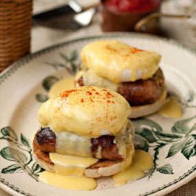 Lincolnshire Sausage Eggs Benedict